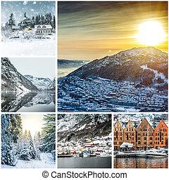 fotos, von, bergen