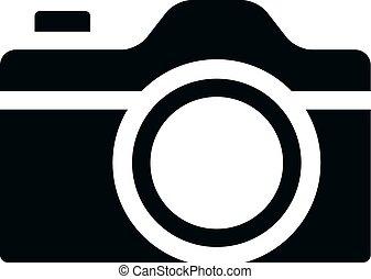fototoestel, -, bw, iconen