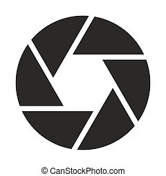 fototoestel, objectief, pictogram, (symbol)