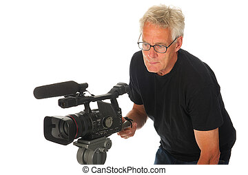 fototoestel, video, man