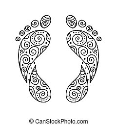 fotspår, ornamental