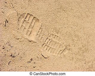 fotspår, shoe.