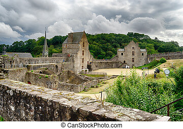 Foug?res castle in Normandy tourist attraction