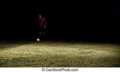 Foul In Soccer Game Slow Motion