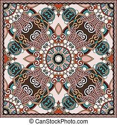 foulard, carrée, cou, conception modèle, soie, ou, écharpe