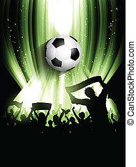 foule, football, fond