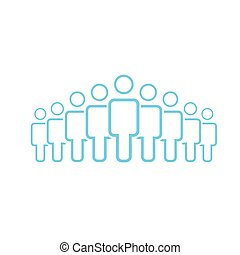 foule, gens, group., activity., design., style, groupe, vector., network., plat, business, social, illustration, utilisateur, icône, illustration., travail, silhouettes, vecteur, neuf, équipe, icon., constitué