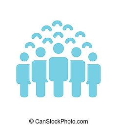 foule, gens, group., activity., design., style, groupe, vector., network., plat, business, social, illustration, utilisateur, icône, illustration., travail, silhouettes, vecteur, équipe, icon., constitué