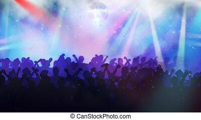 foules, disco., gens