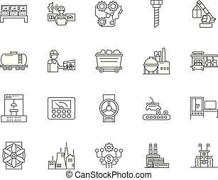 Foundaries line icons, signs, vector set, outline...