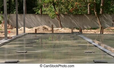 Foundation Of Building - Foundation of building concrete...