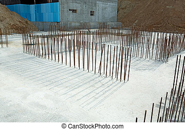 foundation of new construction at a building site