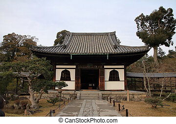 founder's hall of Kodai temple in Kyoto, Japan