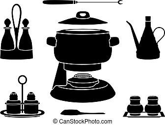 Foundue pot