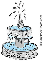 Fountain - An image of a cartoon water fountain.