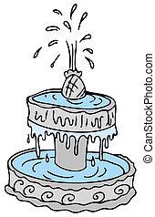 Fountain - An image of a cartoon water fountain.