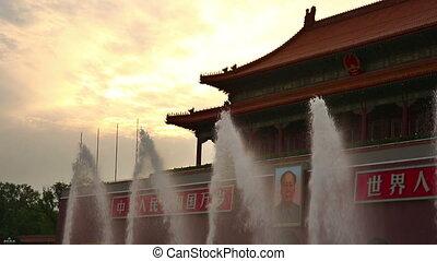 Fountain at Forbidden City, Beijing - Fountain at walls of...