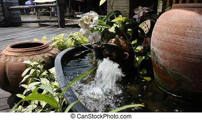 Fountain at Pattaya floating market