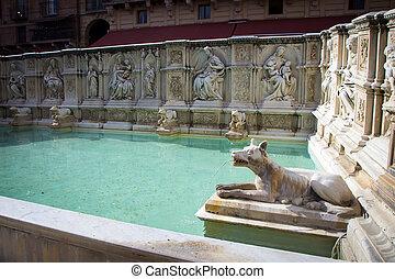 Fountain at Piazza del Campo in Siena