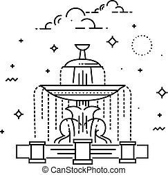 Fountain at Place de la Concord. Landmark of Paris