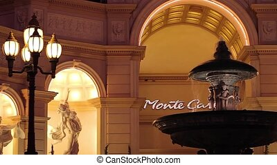 Fountain at the Monte Carlo, Vegas - A small clip of the...