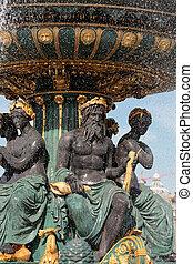Fountain at the Place de la Concorde, Paris, France