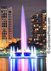 Fountain closeup in Orlando - Fountain closeup with Orlando...