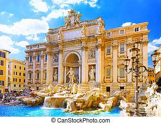 Fountain di Trevi ,Rome. Italy. - Fountain di Trevi - most ...
