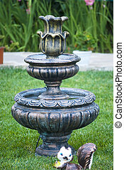 fountain garden decorative statue