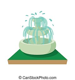 Fountain icon, cartoon style