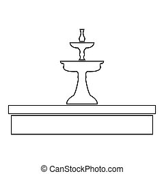 Fountain icon .