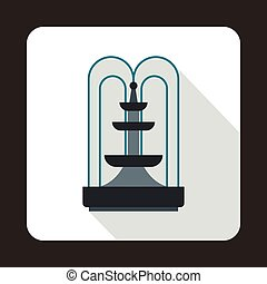 Fountain icon, flat style