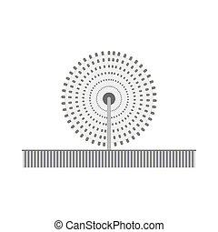 Fountain icon illustration. Vector