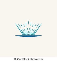 fountain icon vector illustration symbol