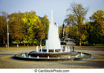Fountain in a park