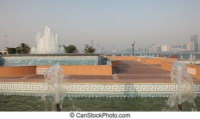 Fountain in Abu Dhab - Fountain in Abu Dhabi, United Arab...