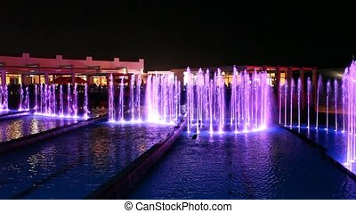 Fountain in Abu Dhabi, United Arab Emirates
