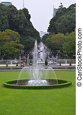Fountain in front of Reunification