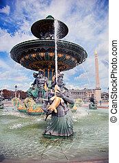 Fountain in Jardin des Tuileries Paris, France.