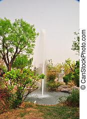 fountain in lake 1