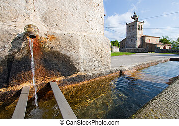 Fountain in Quisicedo, Burgos, Castilla y Leon, Spain