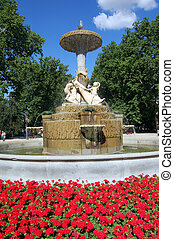 Fountain in Retiro\\\'s Park, Madrid - Fountain in...