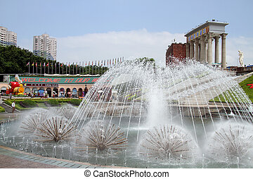 Fountain in Shenzhen - SHENZHEN, CHINA - CIRCA JULY 2012...