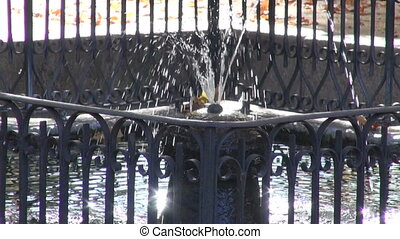 Fountain in the autumnal park