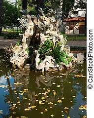 Fountain in the Dolmabahce palace (Istanbul, Turkey)