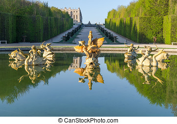 Fountain in the Garden of Versailles, France