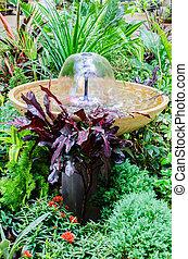 Fountain in the garden park