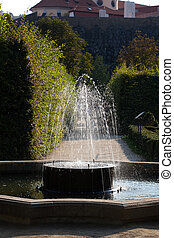 fountain in the green arch park
