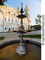 Fountain in the Kiev-Pechersk Lavra. - Fountain in the...