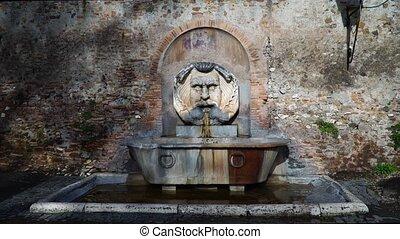 Fountain in the Orange Garden, Rome, Italy Giardino degli Aranci